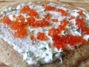 Pfannkuchen vegan mit Kaviar