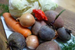 Borschtsch Zutaten