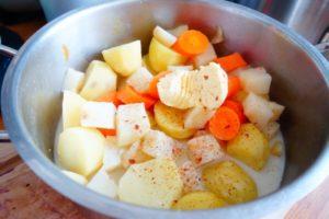 Kartoffel Sellerie Möhren Stampf